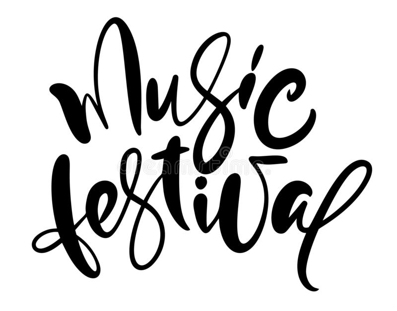 Music Festival Vector Illustration, Guitar Art And