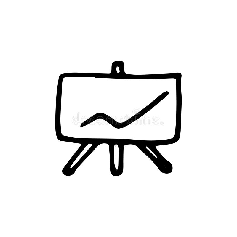 Statistic graphs sketch stock vector. Illustration of