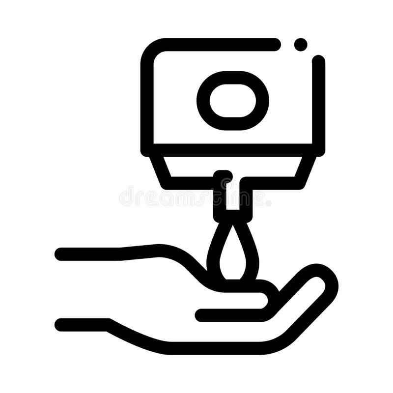 Hands Washing With Soap Icon Outline Illustration Stock
