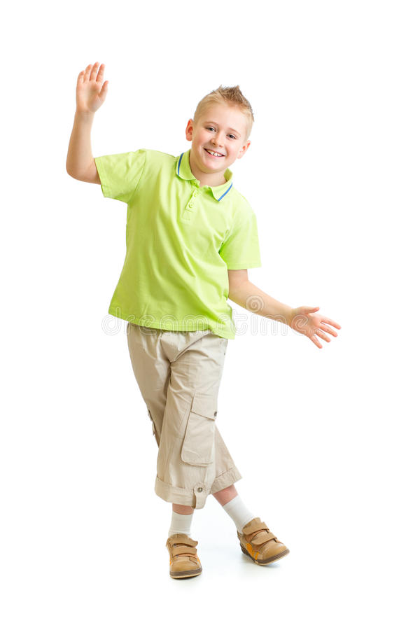White Kid Dancing : white, dancing, Handsome, Balancing, Dancing, Isolated, Stock, Image, Adorable,, Smile:, 37150591