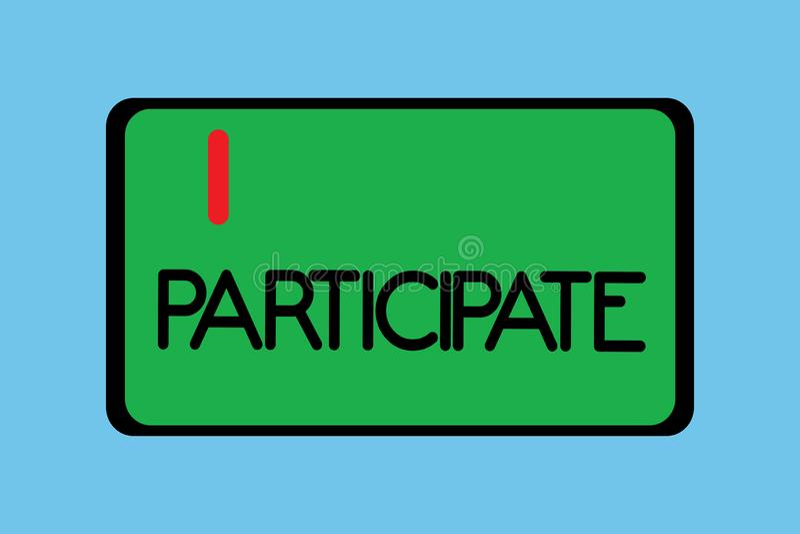 Participate Stock Illustrations – 2.829 Participate Stock Illustrations. Vectors & Clipart - Dreamstime