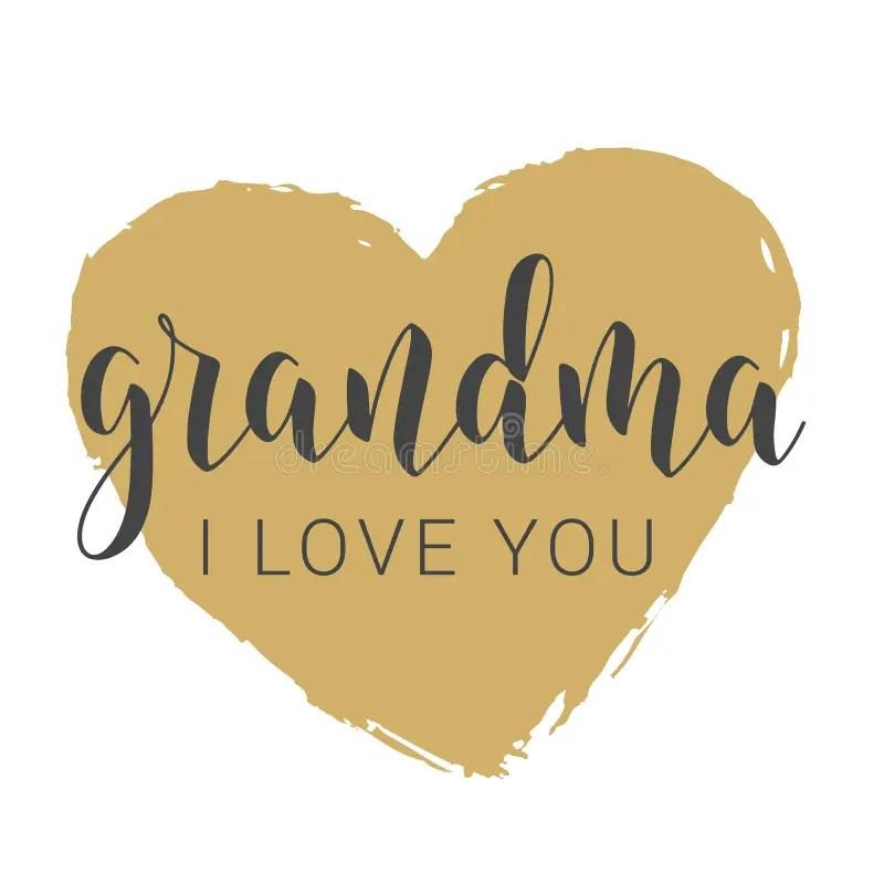 Download I love you Grandma stock vector. Illustration of ...