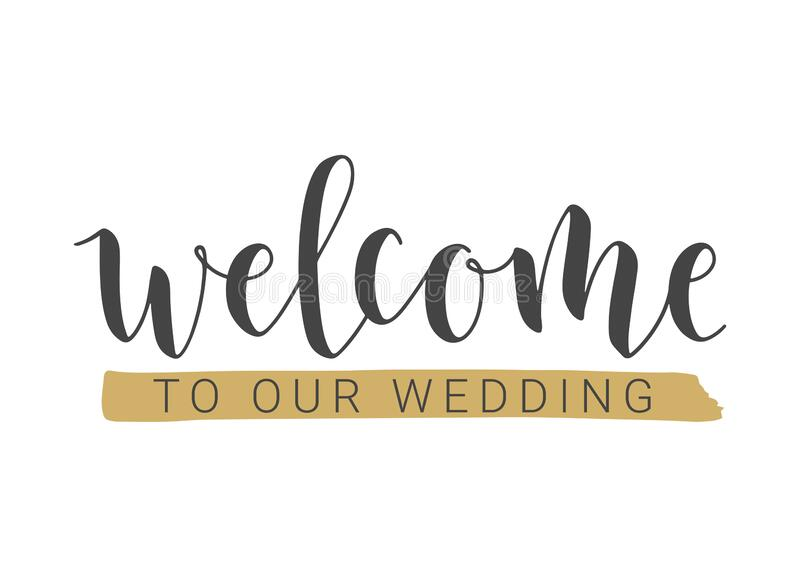 party wedding welcome stock