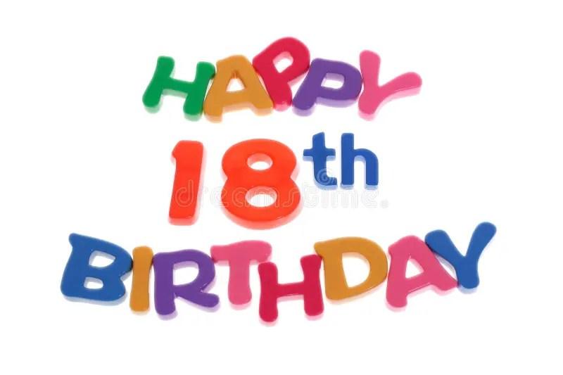Happy 18th Birthday Stock Image Image Of Isolated Plastic 6180099