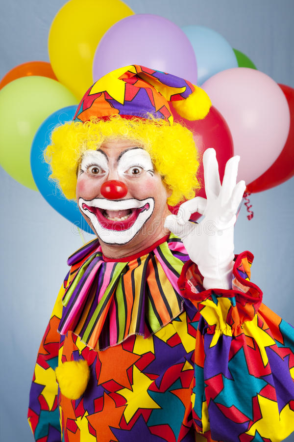 Happy Clown AOkay Stock Image Image Of Entertainer