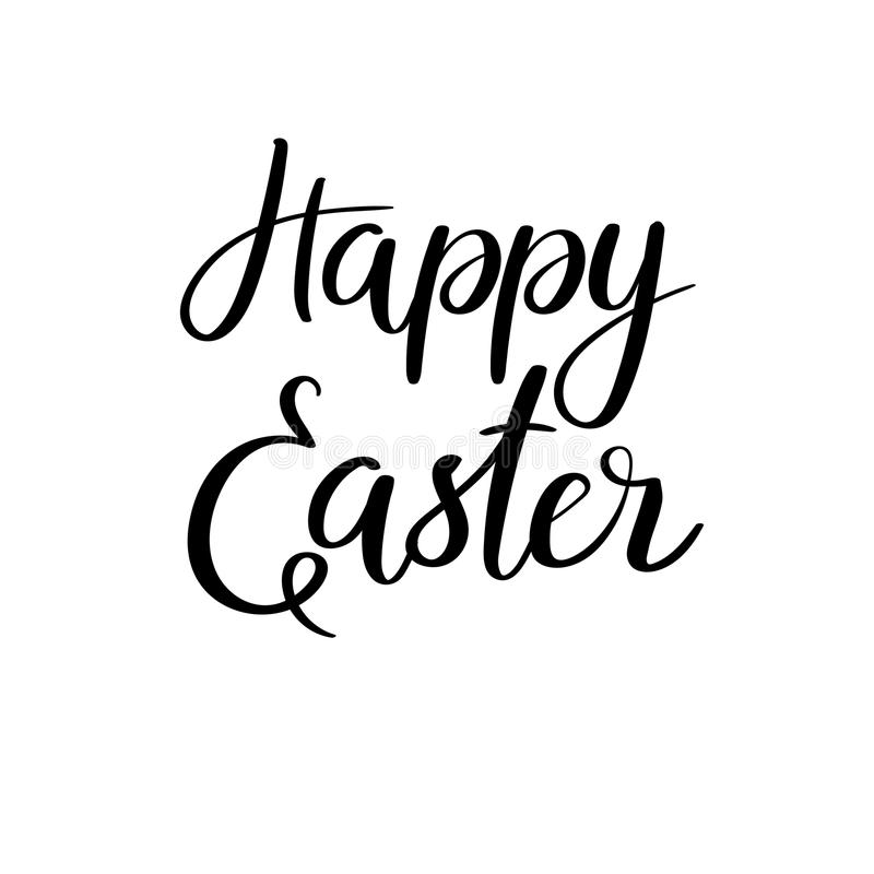 Happy Easter Hand Lettering Stock Illustration