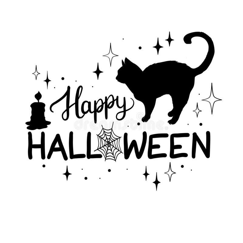 Cat black and white cool collection of cat cliparts images pictures design. Halloween Black Cat Silhouette Stock Illustrations 11 028 Halloween Black Cat Silhouette Stock Illustrations Vectors Clipart Dreamstime