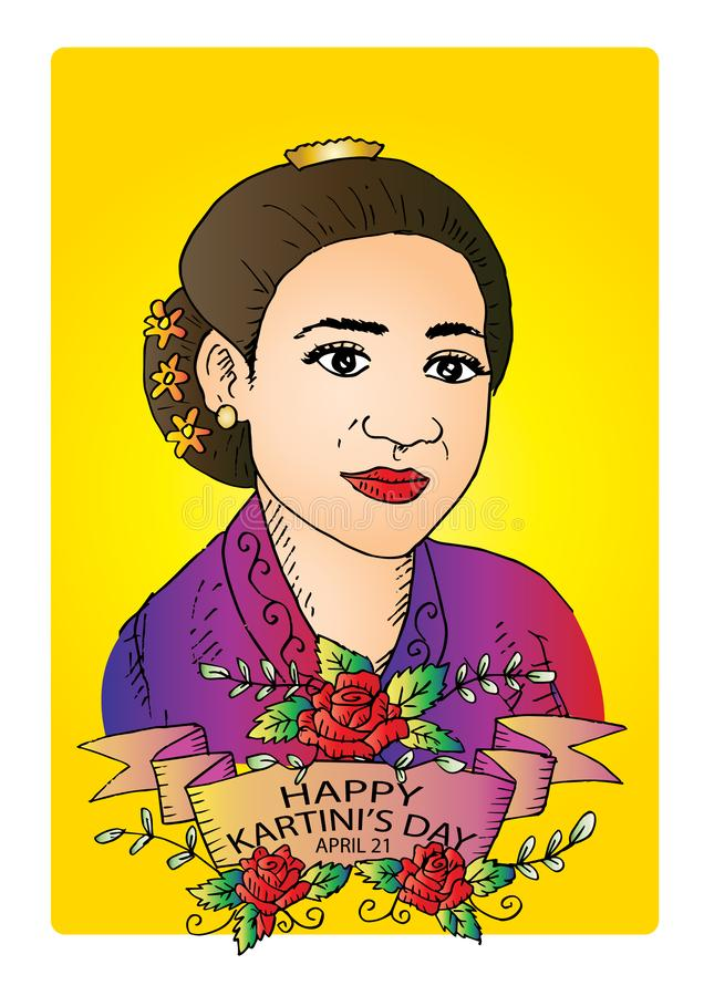 Ra Kartini Vector : kartini, vector, Kartini, Stock, Illustrations, Illustrations,, Vectors, Clipart, Dreamstime