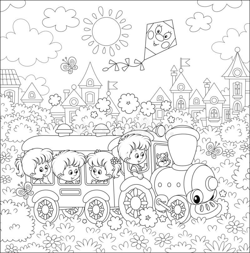 Playground Coloring Stock Illustrations