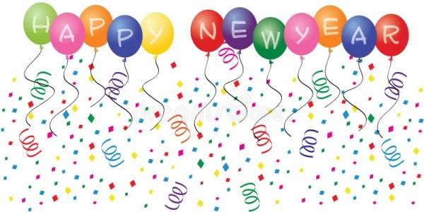 happy year balloons stock vector