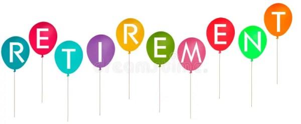 happy retirement party balloons