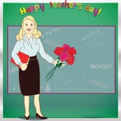 teacher happy vector card professeur pour student carte voor illustratie template gelukkige malplaatje felice greeting modello heureux descripteur jour flowers