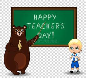 teachers happy teacher clip cartoon card student greeting bear illustrations illustration clipart dreamstime vectors