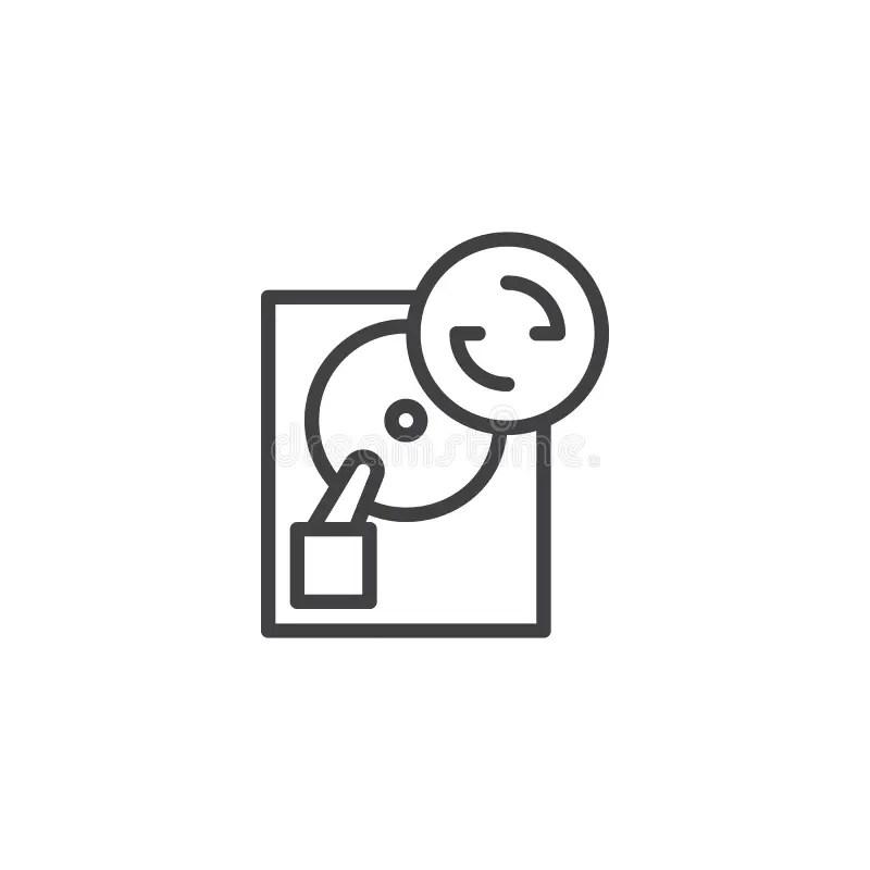 Hard Disk Drive Data Storage Database Icon Symbol Stock