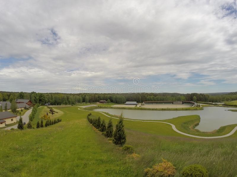 Harmony Park Panorama In Lithuania Stock Image - Image of ...