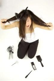 bad hair day stock