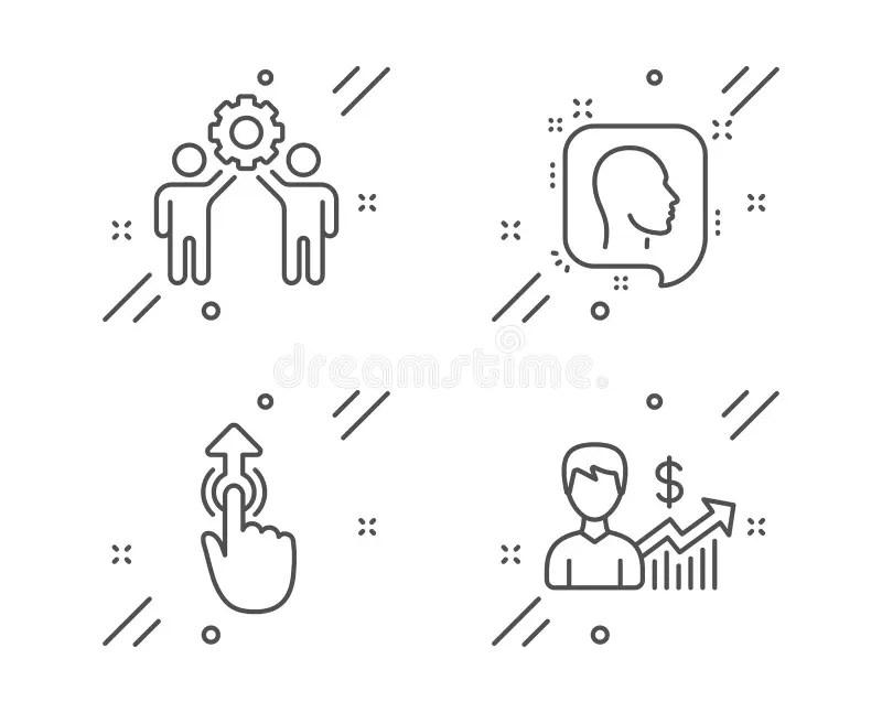 Teamwork Icons. Helping Hands Symbols. Stock Vector