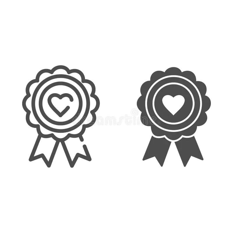 Medal heart stock vector. Illustration of medallion