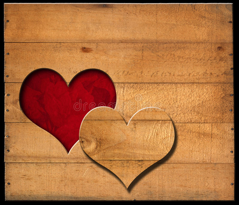 Fall Wooden Wallpaper Heart Shape Cut On Old Wooden Boards Stock Photo Image