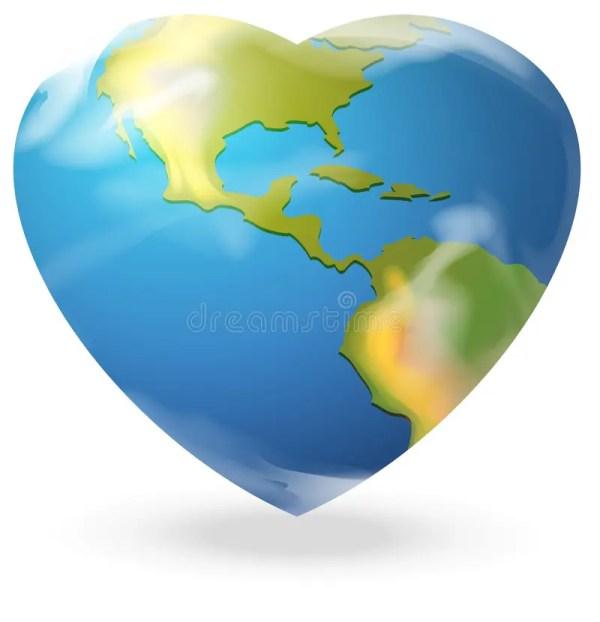 Heart-shaped Globe Stock Vector - 38912402