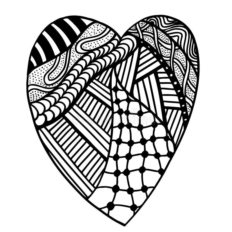 Heart In Zentangle Style Stock Vector Illustration Of