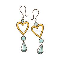 Hearts earrings. stock vector. Illustration of celebrate ...