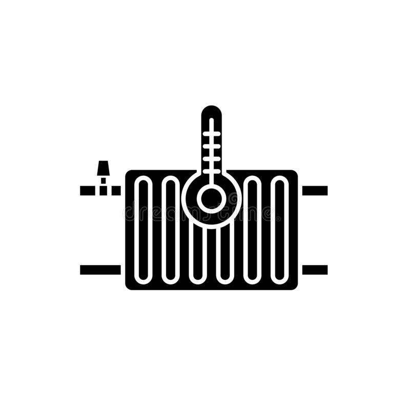 Thermal Power Plant Line Icon Concept. Thermal Power Plant