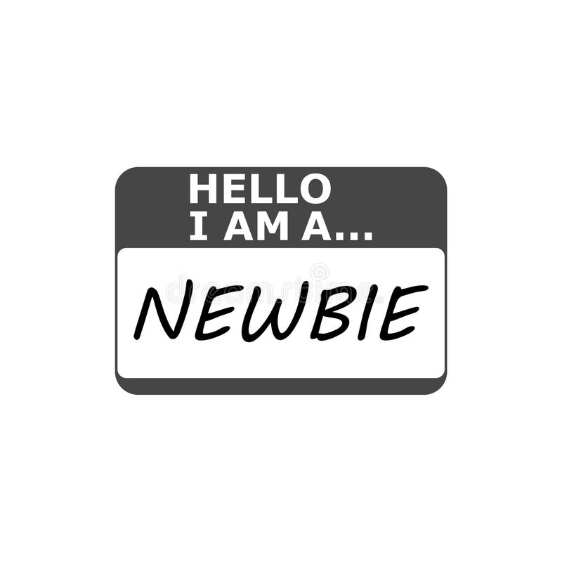 Simple Newbie Button With Egg Icon On It. Vector Stock