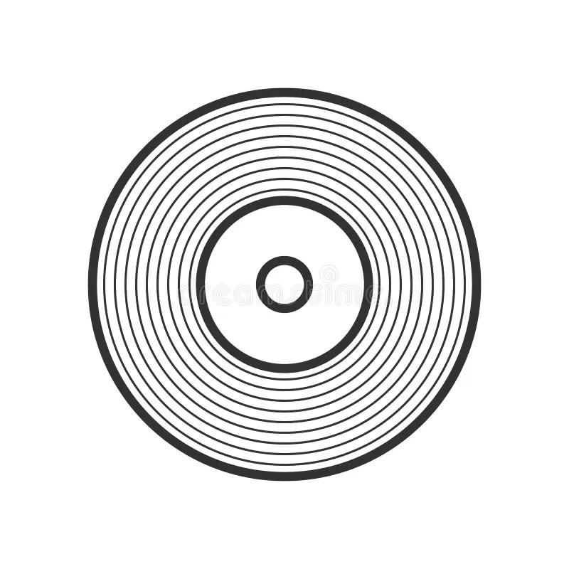 Vinyl verslag vector illustratie. Illustratie bestaande