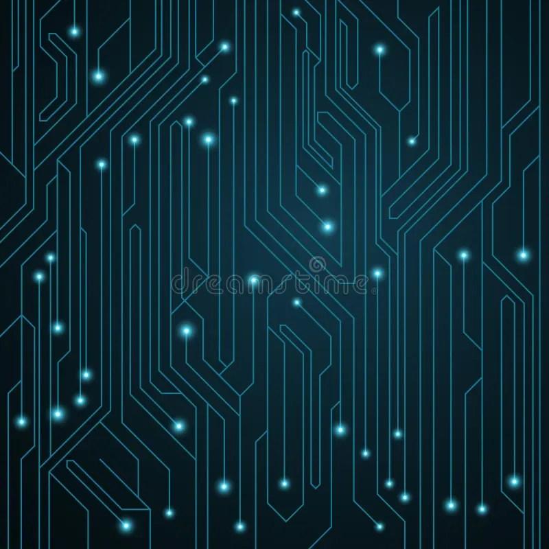 Eps Vector Of Vector Circuit Board Industrial B Monochrome Vector