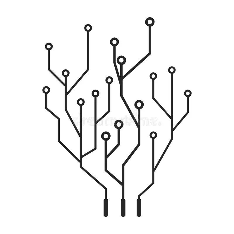 High Tech Circuit Board Vector Symbol Icon Design. Stock
