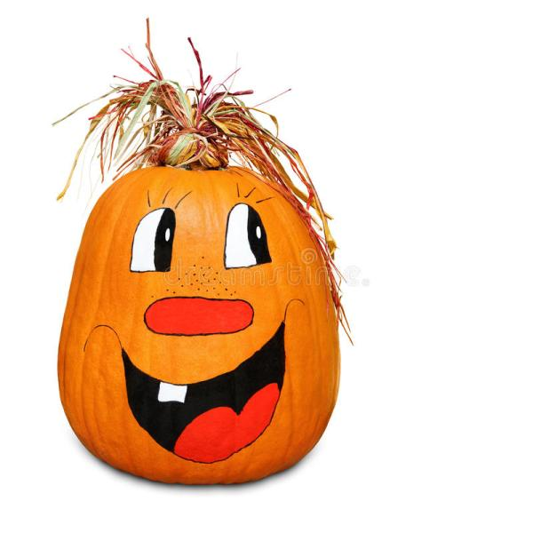 hilarious happy pumpkin stock