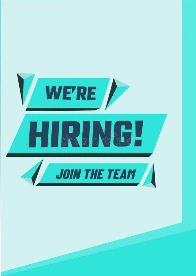 We Are Hiring Poster Or Banner Design. Job Vacancy Advertisement Stock Illustration - Illustration of hiring. black: 117989237