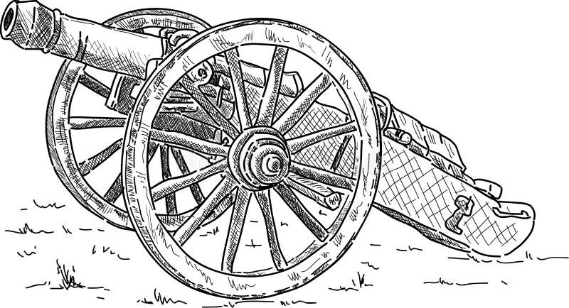 Artillery Stock Illustrations