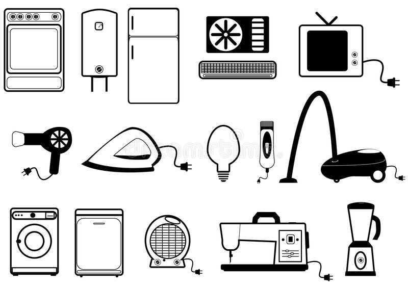 Home appliances stock vector. Illustration of mixer