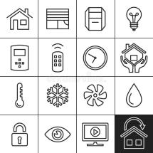 Home Automation Icons Stock Vector. Illustration Of Icon