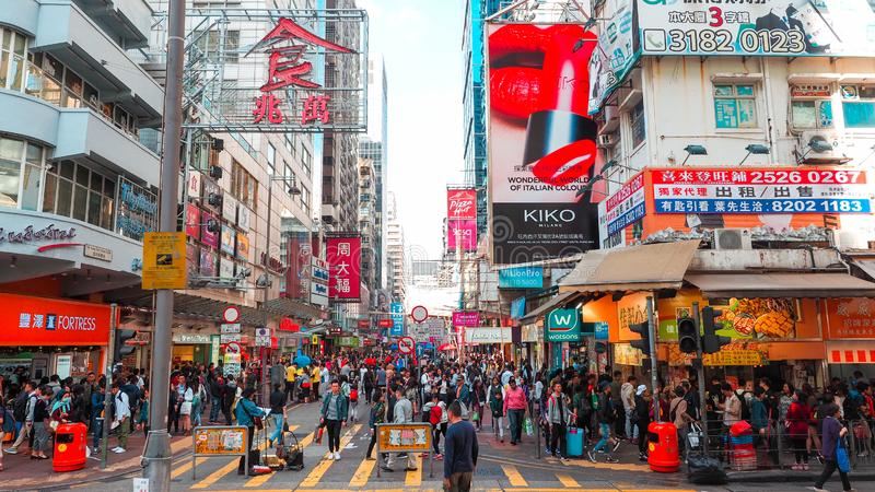 HONG KONG - DEC 11: People Shopping At Mong Kok On December 11. 2016 In Hong Kong. Mong Kok Is Characterized By A Mixture Of Old Editorial Photo ...