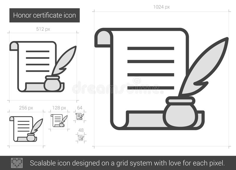 Set Of Certificate Of Honor. 02 (Vector) Stock Vector