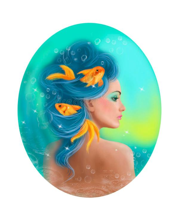 Girl Pisces Fish