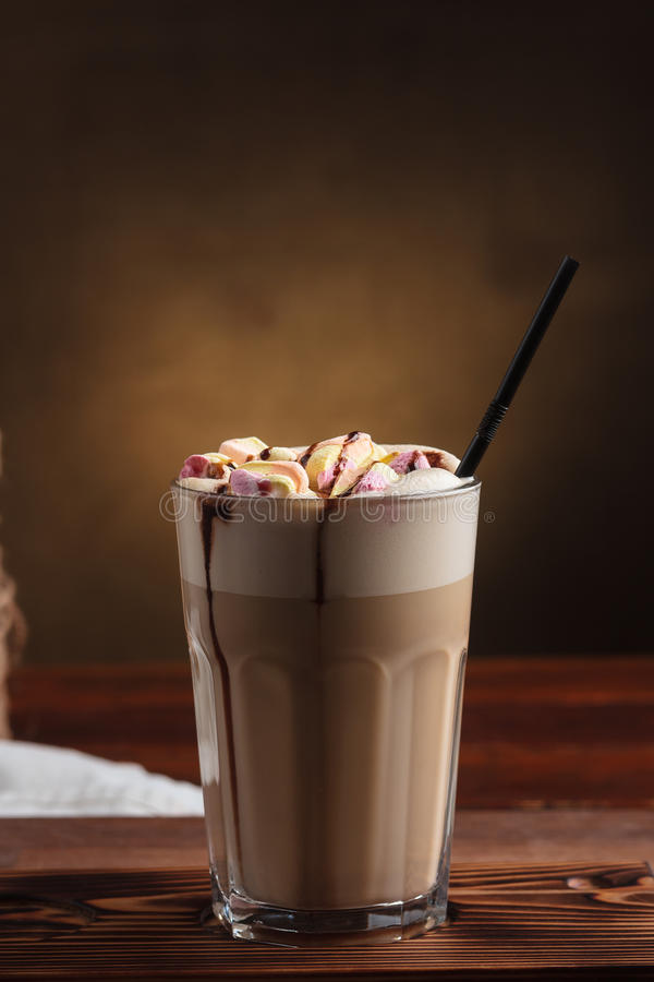 Hot Latte With Marshmallows And Sugar Stock Photo - Image ...
