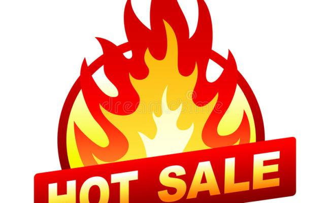 Hot Sale Fire Badge Price Sticker Flame Stock Vector