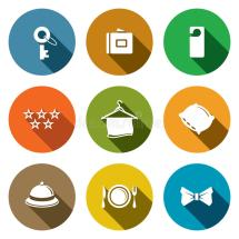 Hotel Icon Collection Stock Illustration - 44660897