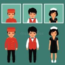 Hotel Service Profession Stock Vector. Illustration Of