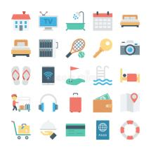 Hotel Services Vector Icons 4 Stock Illustration