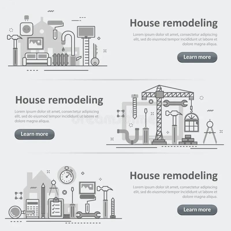 Interior Design Process Decoration Website Banner And