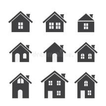House Icon Set Stock Vector. Illustration Of Home Town