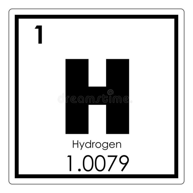 Diagram Representation Of The Element Hydrogen Stock Manual Guide
