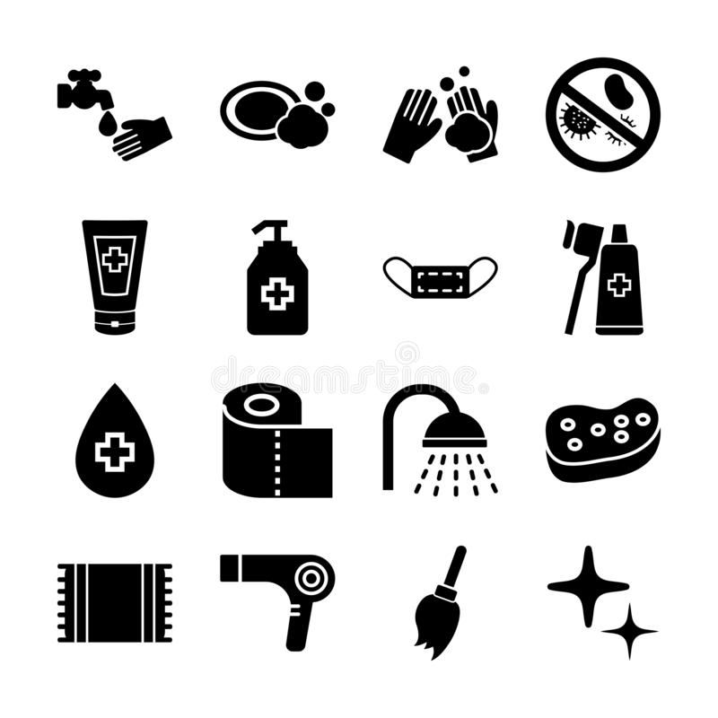 Hygiene vector banner stock vector. Illustration of flat