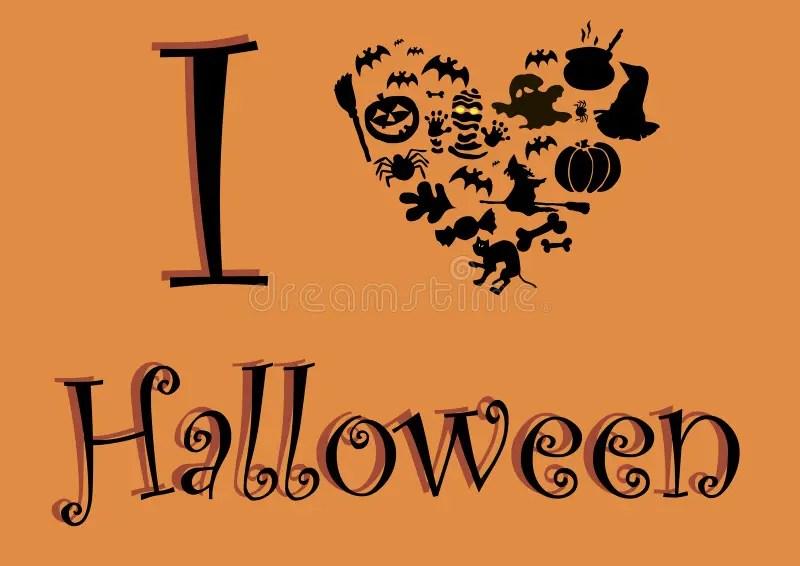 Download I love Halloween stock vector. Image of broom, mummy ...