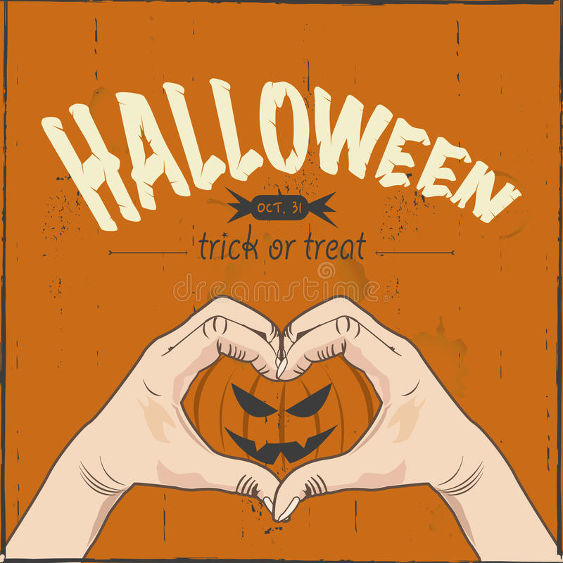 Download I love Halloween stock vector. Illustration of silhouette ...